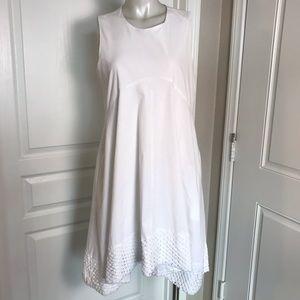 NANETTE LEPORE WHITE EMPIRE WAIST SWING DRESS